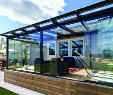 Outdoor Retractable Glass