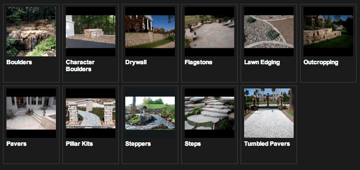 Landscape Stone Examples