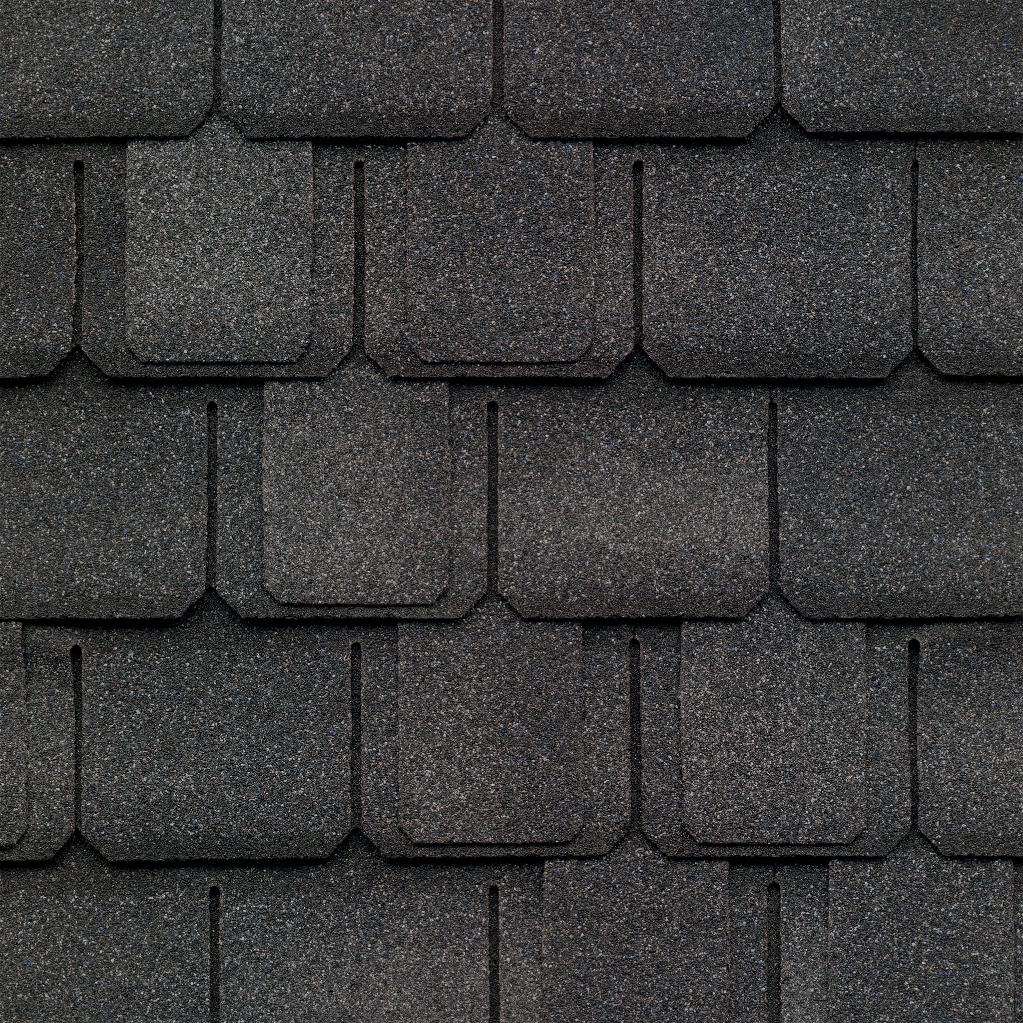 Close-up photo f GAF's Camelot Welsh Gray shingle swatch