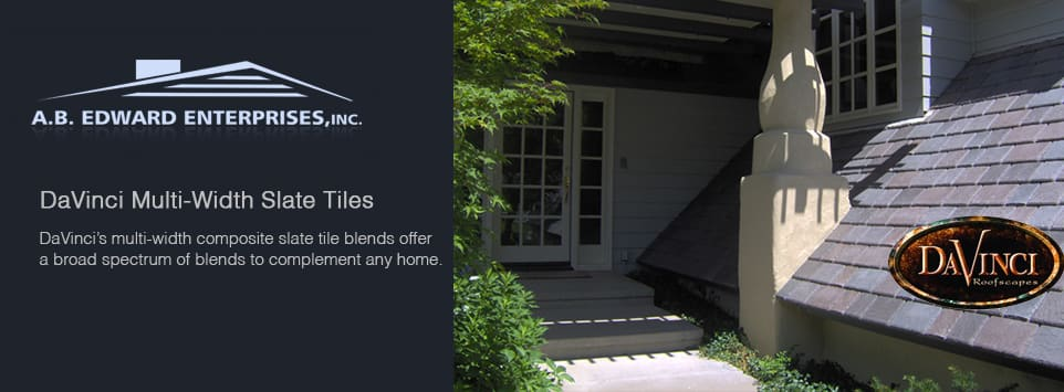 Davinci multi width slate tiles synthetic slate and for Davinci slate roof reviews