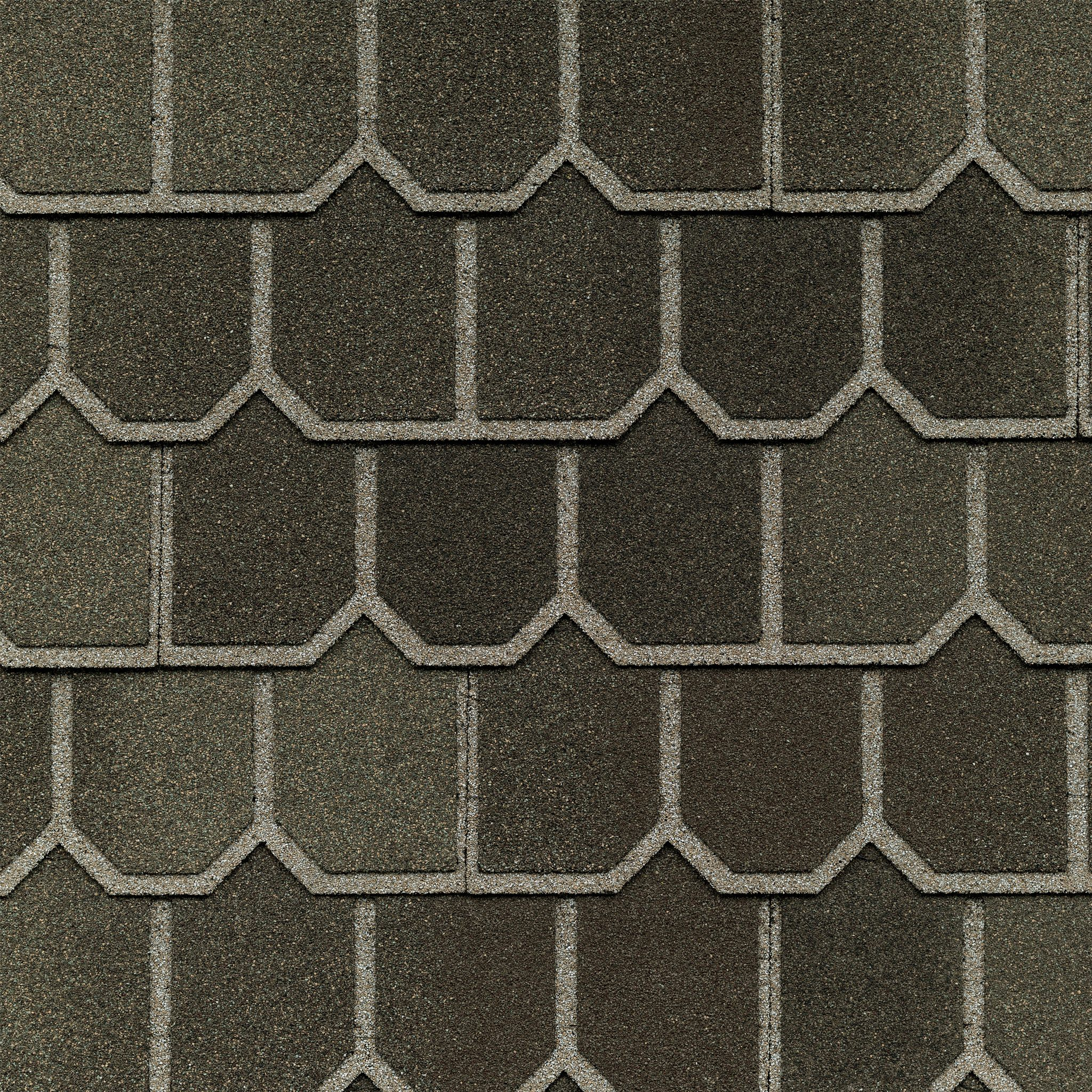 Close-up photo of GAF's Country Mansion II Aged Oak shingle swatch