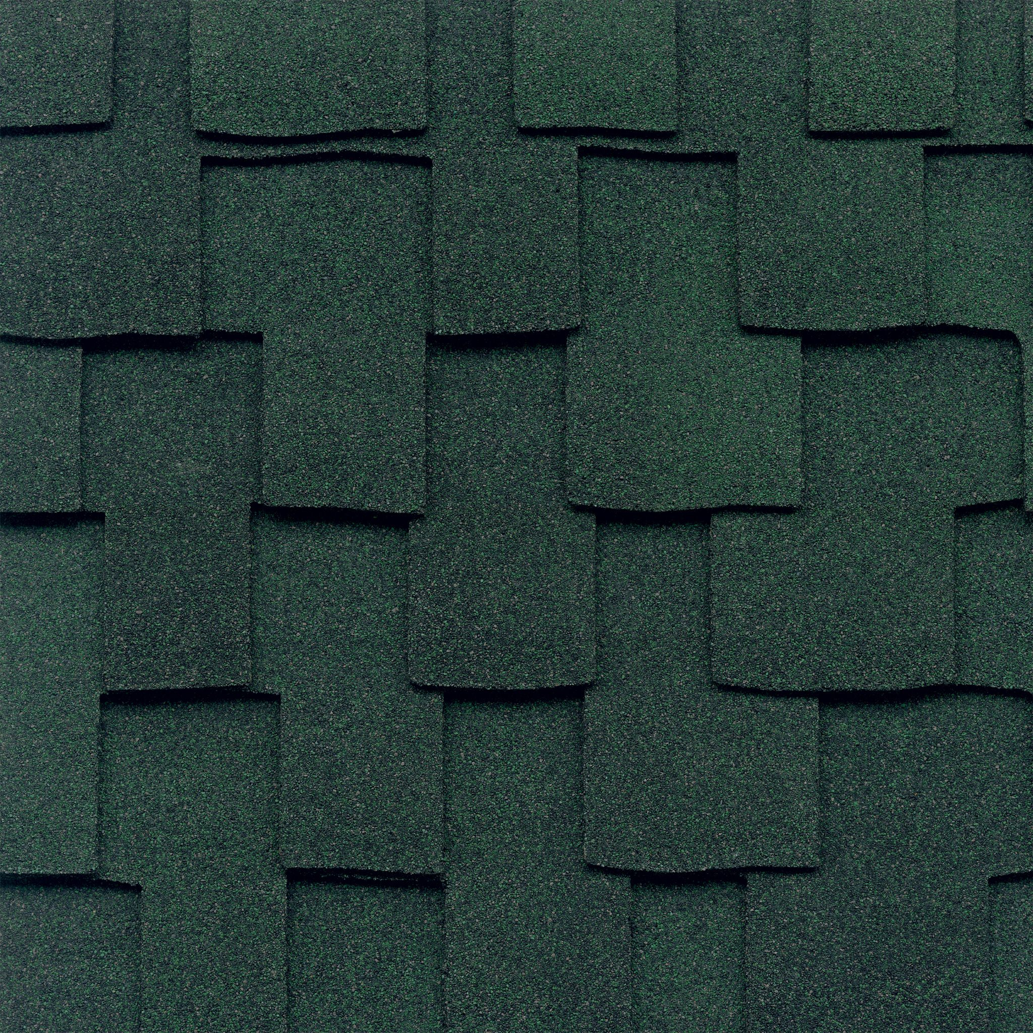 Close-up photo of GAF's Grand Canyon Moss Green shingle swatch
