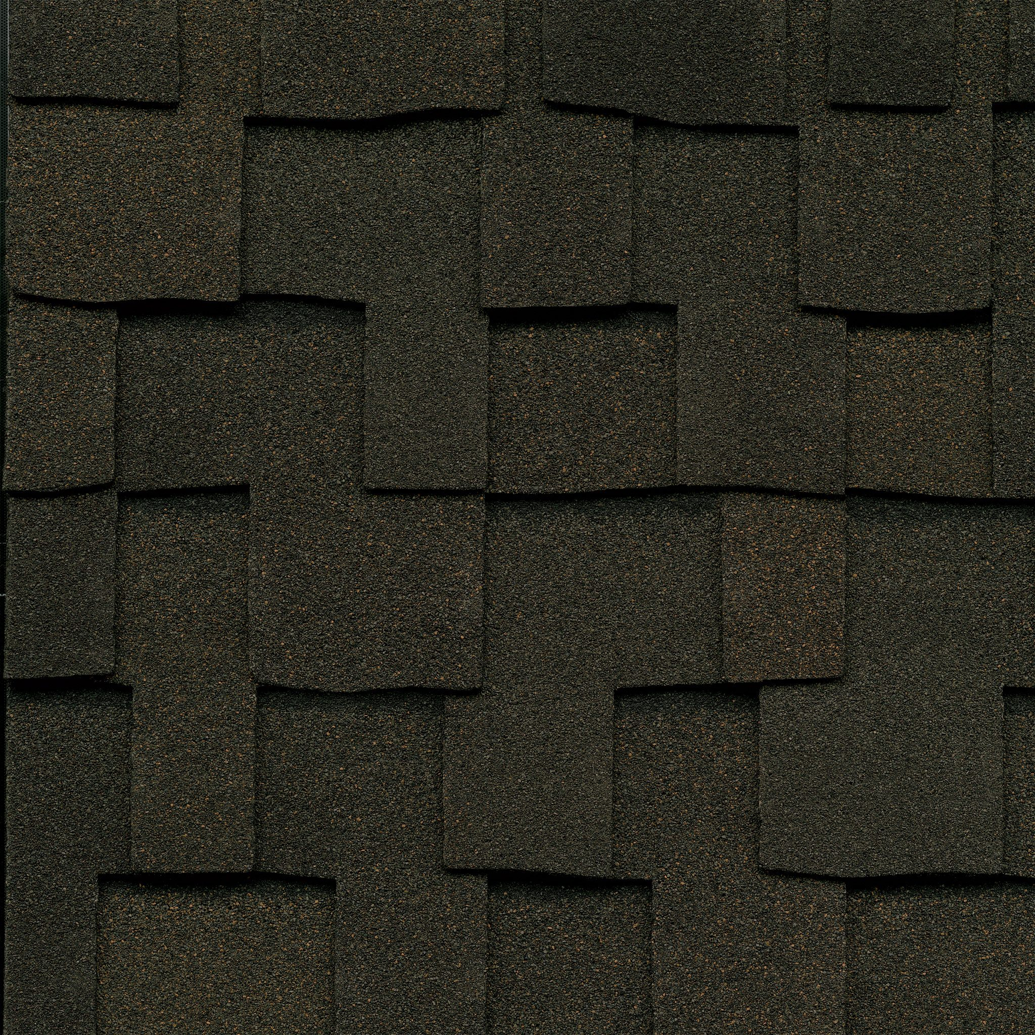 Close-up photo of GAF's Grand Sequoia Autumn Brown shingle swatch