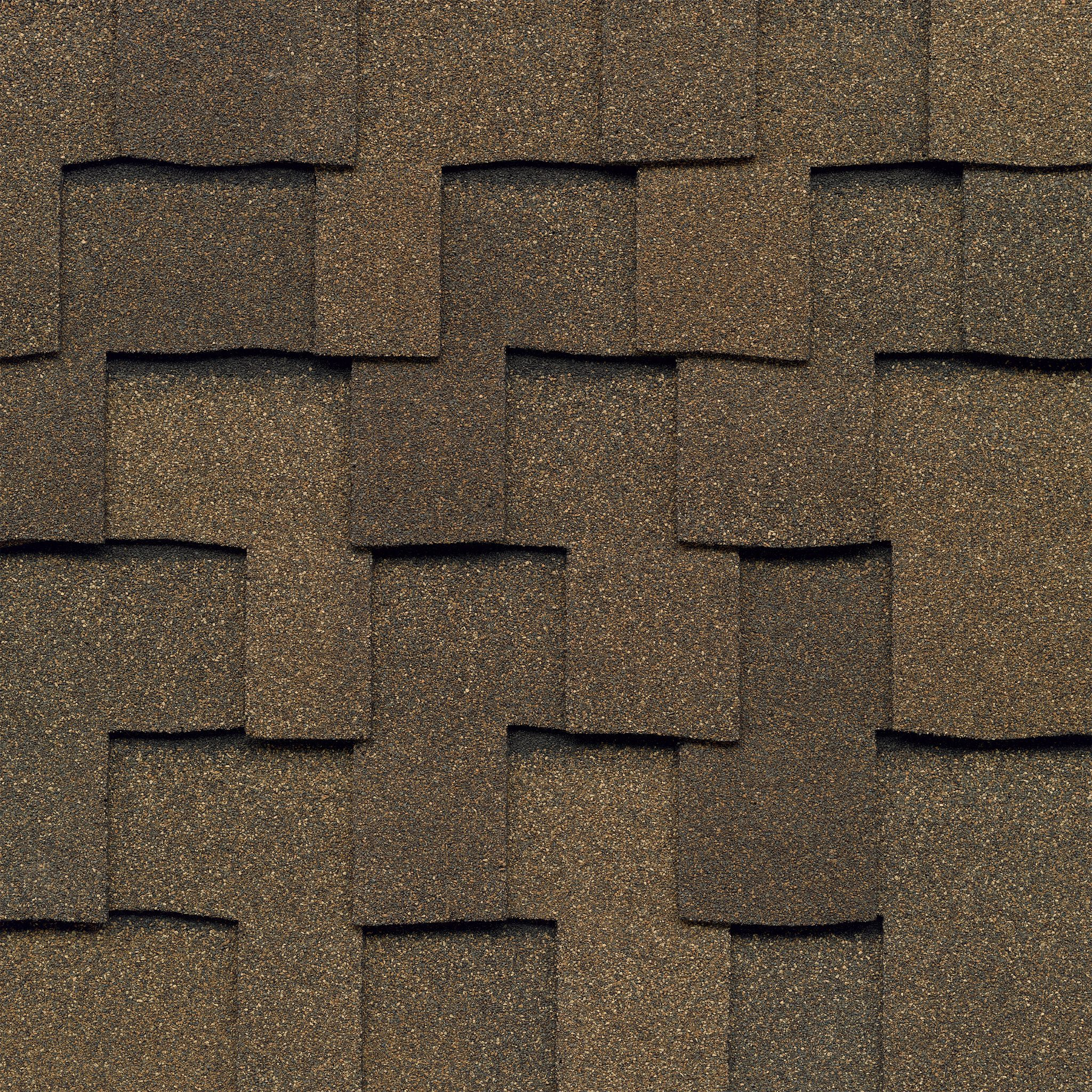 Close-up photo of GAF's Grand Sequoia Cedar shingle swatch