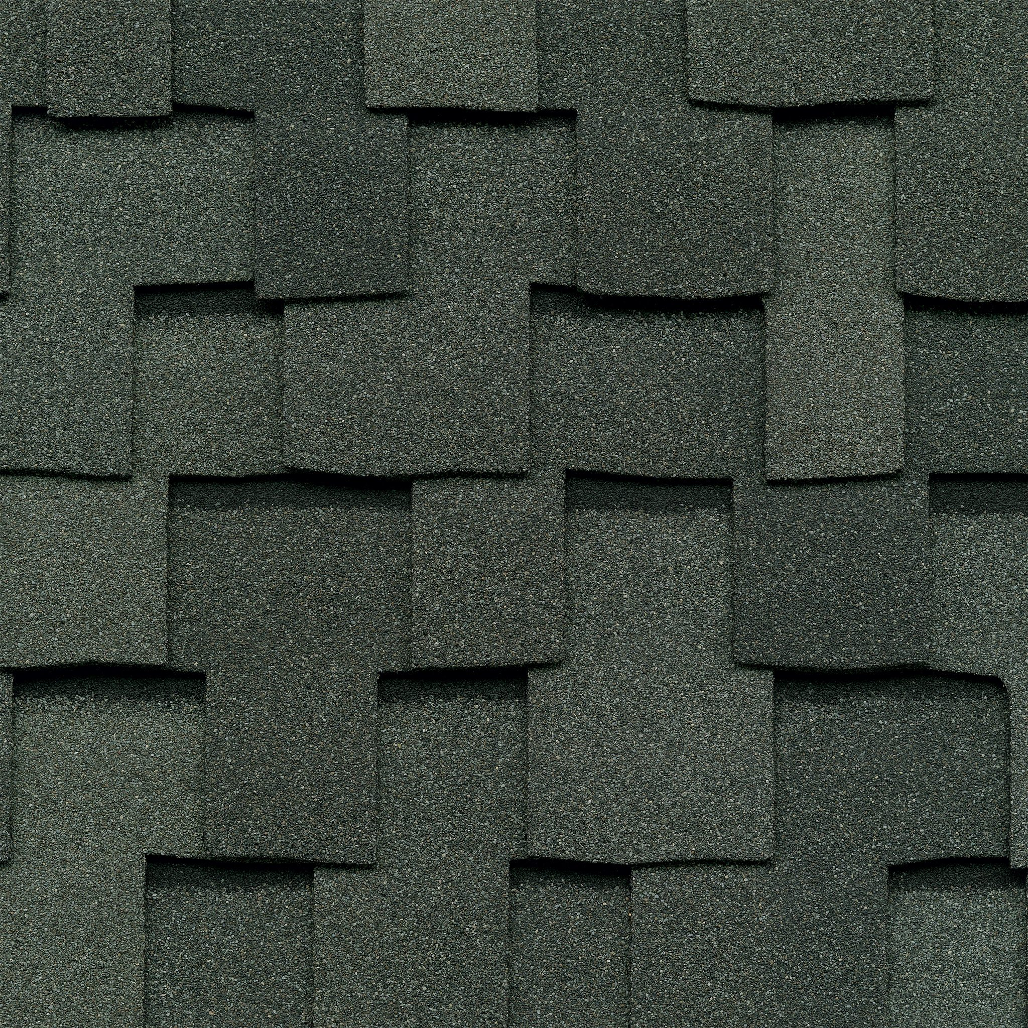 Close-up photo of GAF's Grand Sequoia Slate shingle swatch