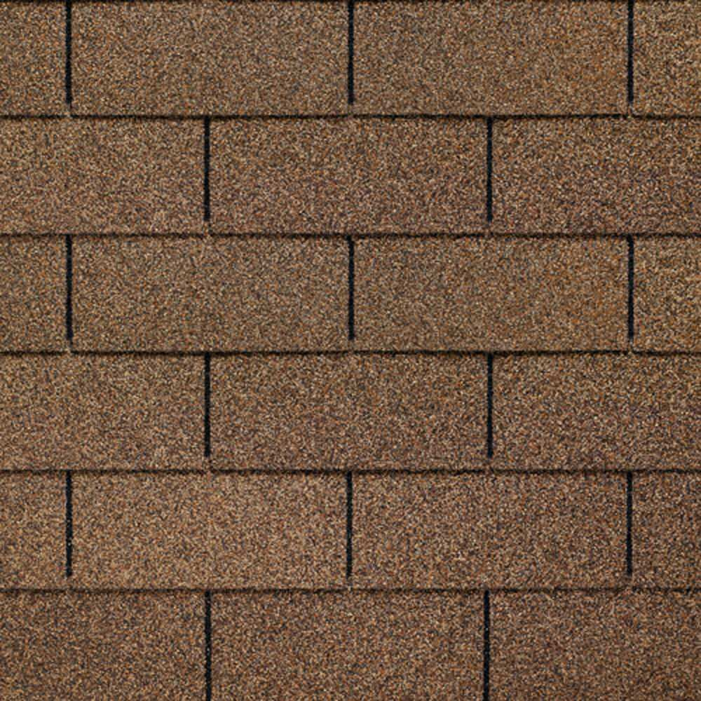 Image of GAF's Royal Sovereign Golden Cedar three-tab shingle swatch