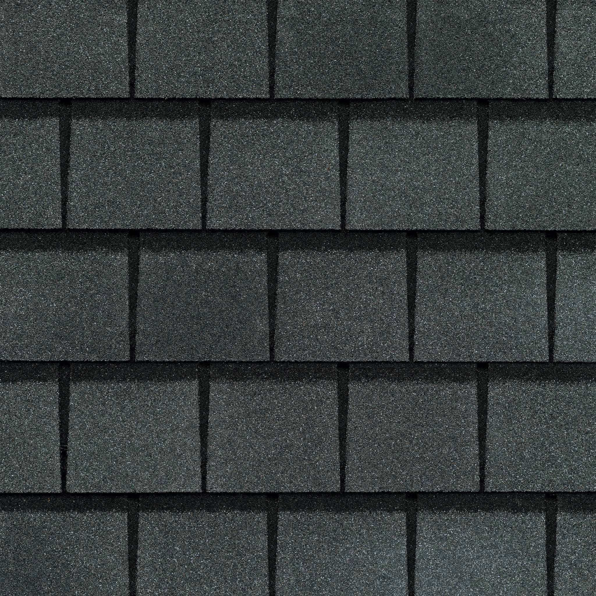 Close up photo of GAF's Slateline Antique Slate shingle swatch
