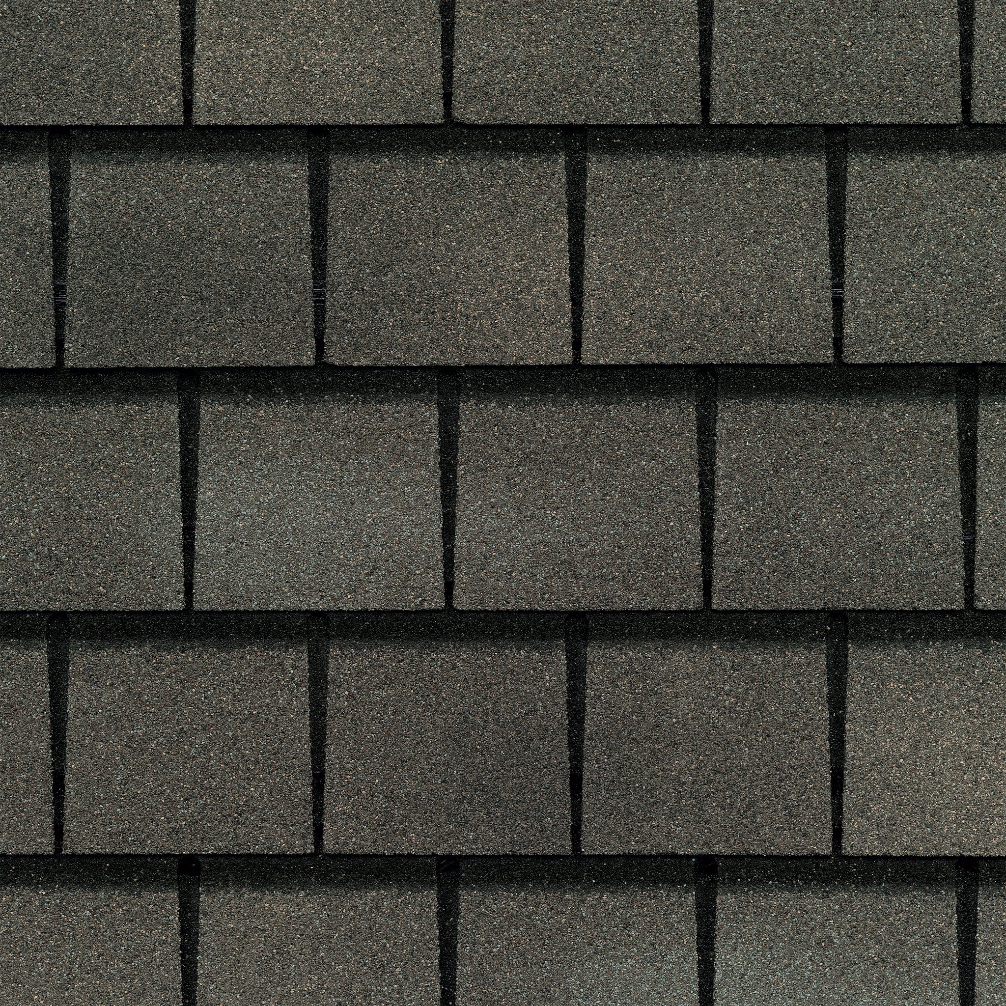 Close up photo of GAF's Slateline Weathered Slate shingle swatch