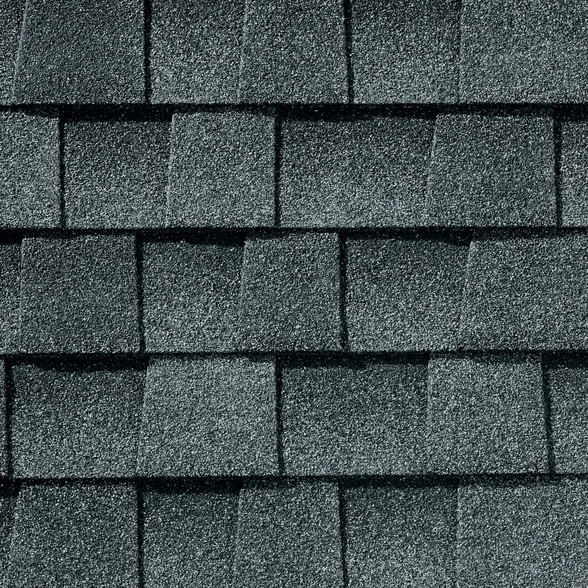 Close up photo of GAF's Timberline Natural Shadow Pewter Gray shingle swatch