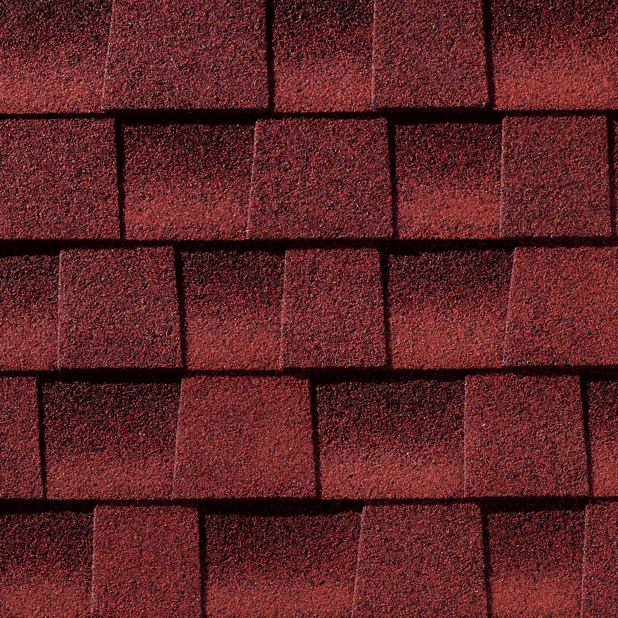 GAF Timberline Ultra HD Patriot Red Shingle Swatc