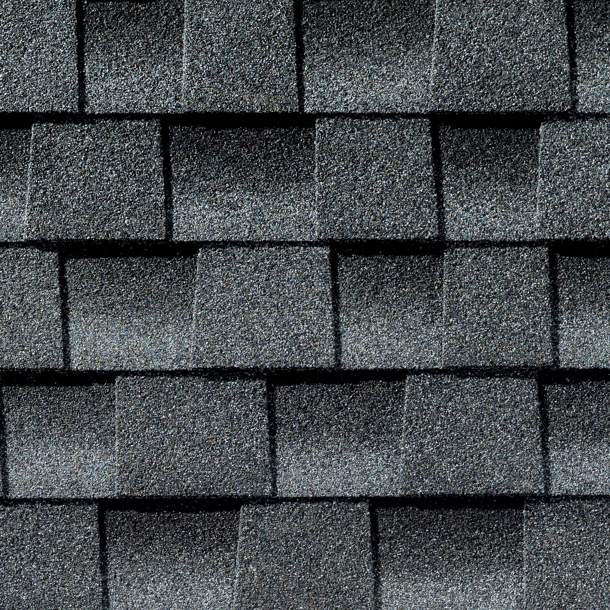 Close up photo of GAF's Timberline Ultra HD Pewter Gray shingle swatch