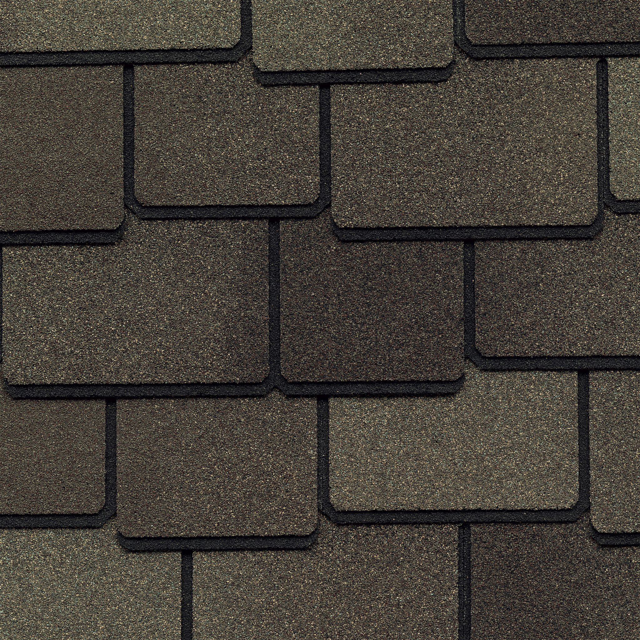 Close up photo of GAF's Woodland Cedarwood Abbey shingle swatch