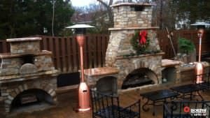 Finished Outdoor Fireplaces