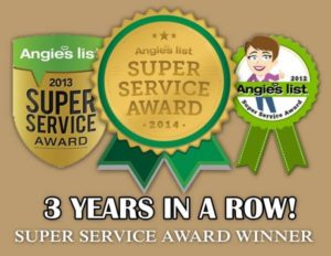 Winner of Angie's List Super Service Award