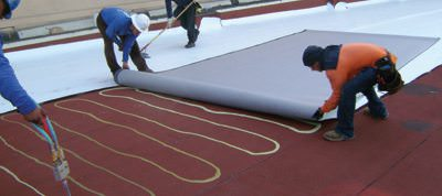 TPO Roofing - Fleece-Back