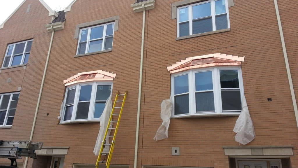 Copper Bay Windows & Copper Soffit Fascia - Chicago, IL Window Installation