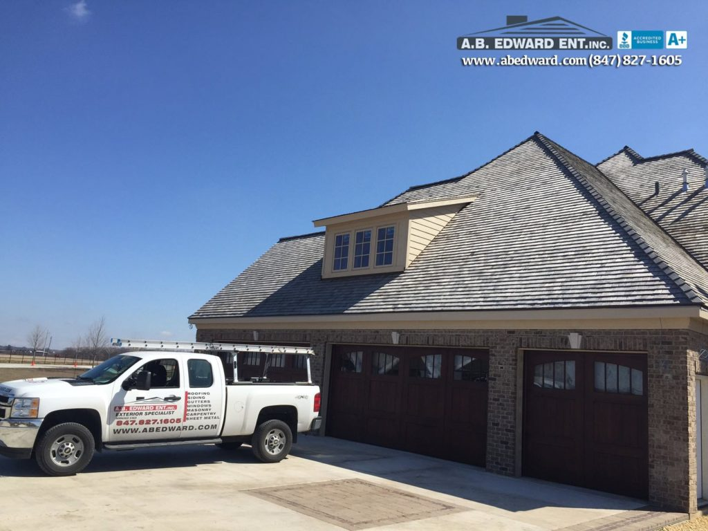 Cedar Roof and Copper Gutters Installation Sycamore IL