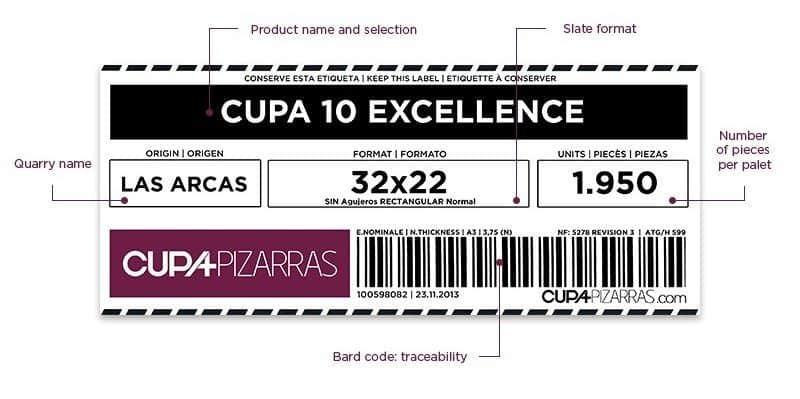 CUPA Natural Slate Traceability