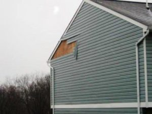 Wind-Damaged Vinyl Siding