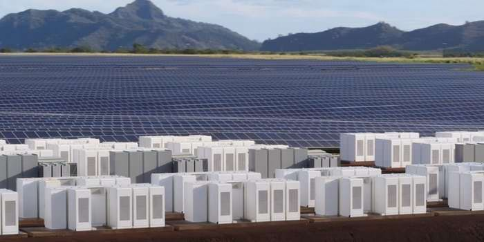 The Tesla Powerpack as shown in this company rendering.
