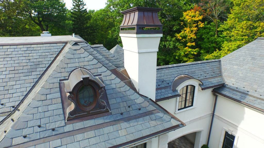 Natural Slate Roofing Project in Highland Park, IL - A.B. Edward Ent.