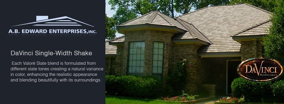 Davinci single width valor slate slate roofing for Davinci slate roof reviews