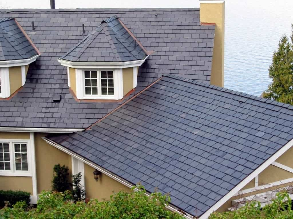 Slate s breakability make it suitable for roofing materials for Davinci slate roof reviews