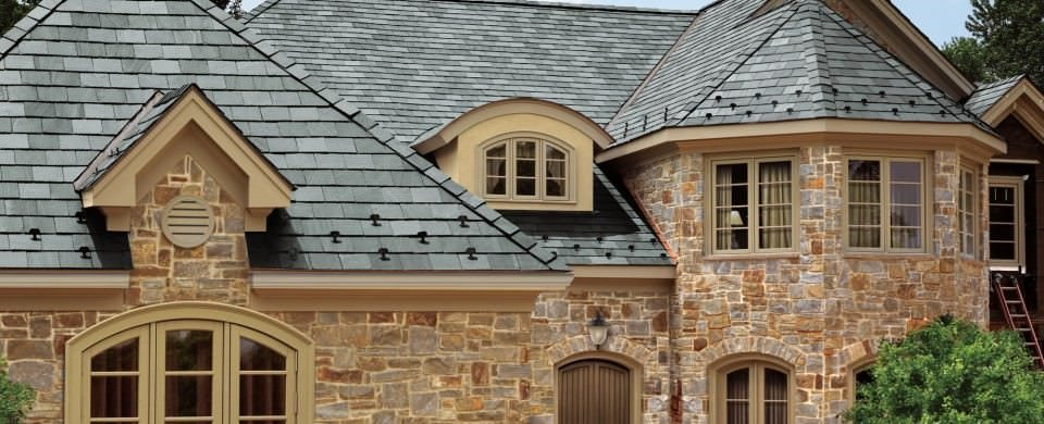 Slate. It's the most beautiful and durable roofing material known to man.