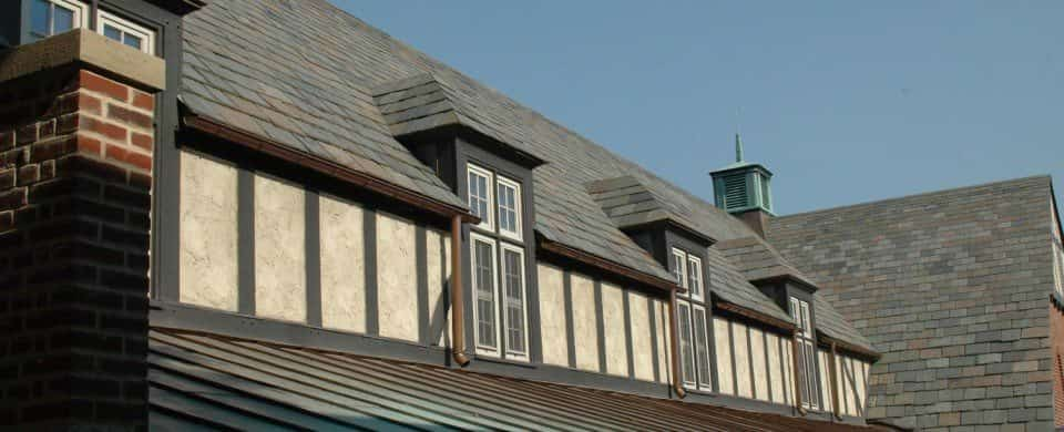 Slate Tile Roofing Installation by A.B. Edward Enterprises Inc.
