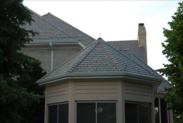 Benefits of synthetic slate roofing a b edward for Davinci slate roof reviews
