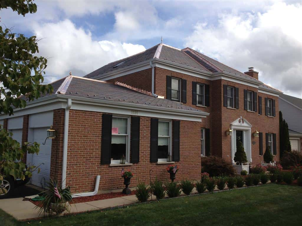 Davinci synthetic slate roofing 1151 wexford court des for Davinci slate roof reviews