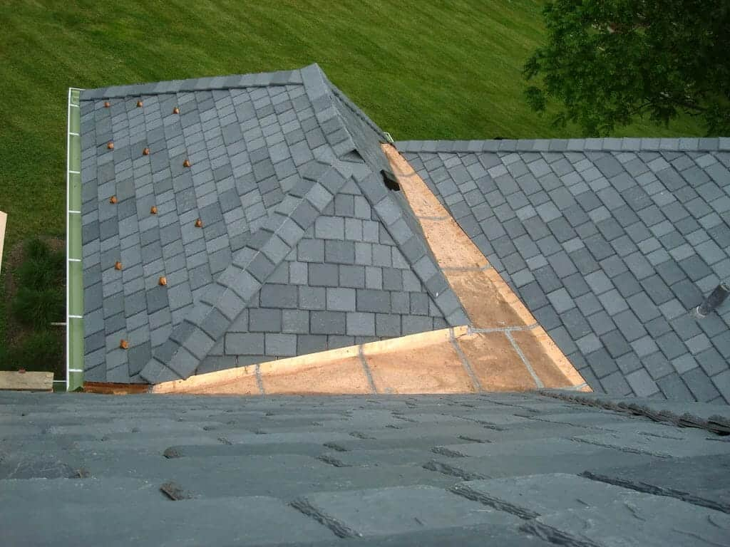 Synthetic slate is a great option to get the look of slate with easier maintenance