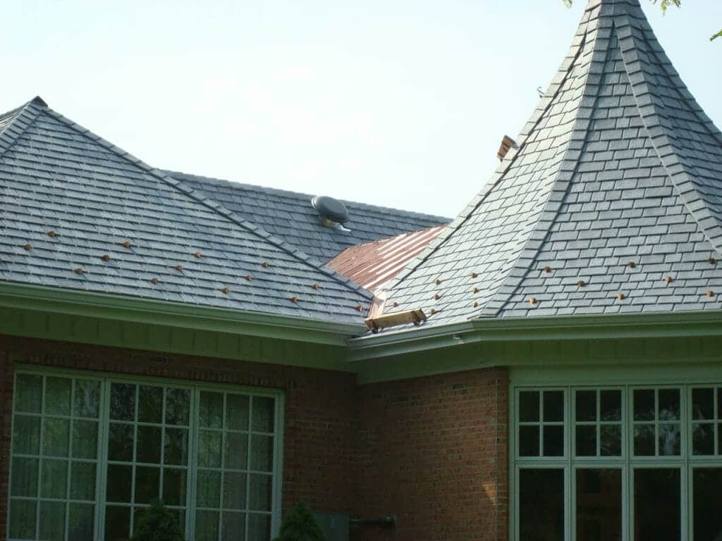 Benefits of synthetic slate roofing a b edward for Davinci synthetic slate price