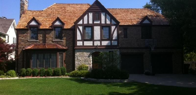 Roofing Glenview IL - Cedar Shake and Copper Gutters by A.B. Edward