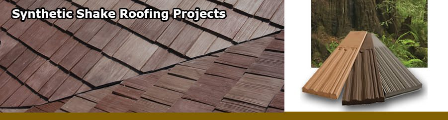 Synthetic Shake Roofing Projects