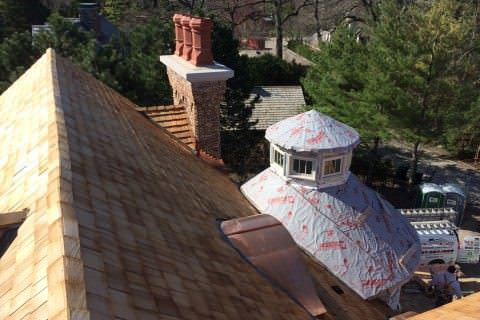 Cedar Shake Roofing Installation by A.B. Edward Enterprises, Inc. (847) 827-1605