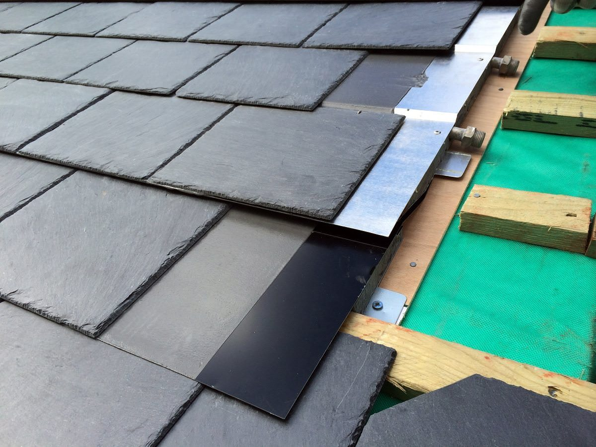 How to install synthetic slate roof shingles best image for Synthetic roofing materials