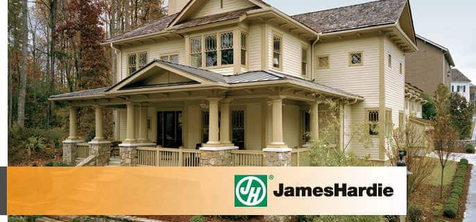 As a reputable siding installer, A.B. Edward Enterprises prefers James Hardie products because of their durability.