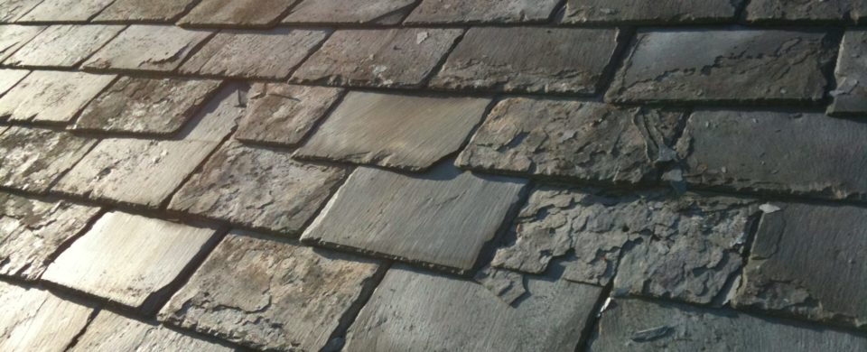 Example of Damaged Slate Roof Tiles