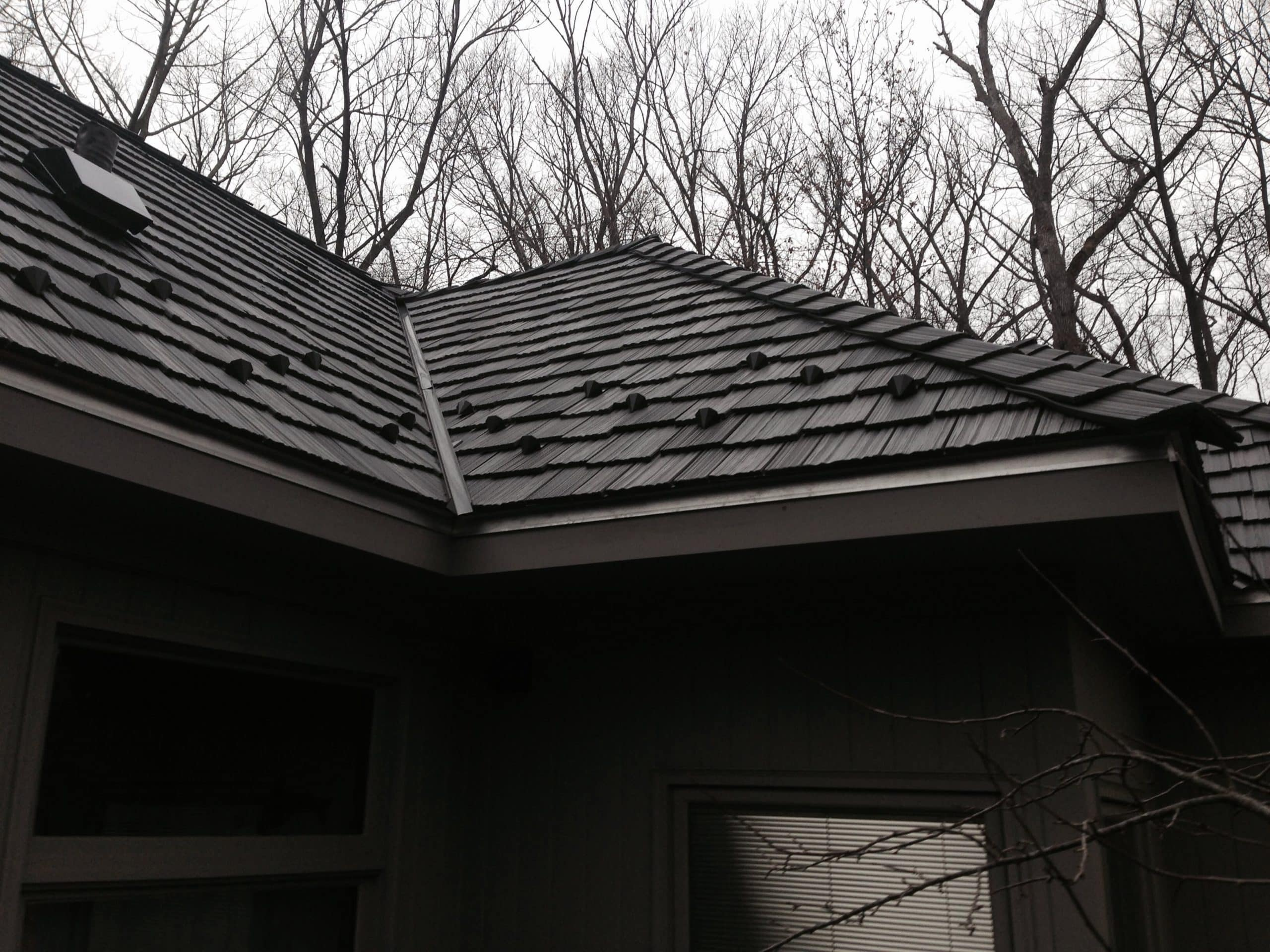 Davinci synthetic slate roofing snow guards installation for Synthetic roofing materials