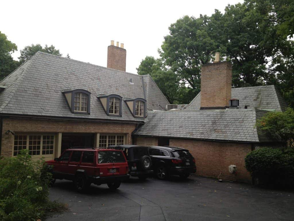 Stonegate rd lake forest natural slate roofing for Davinci slate roof reviews