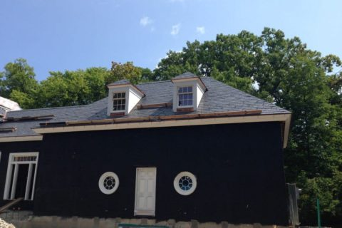 This is a natural slate roofing project completed by A.B. Edward Enterprises, Inc for our client in Highland Park, IL - Slate Roofing Installation.