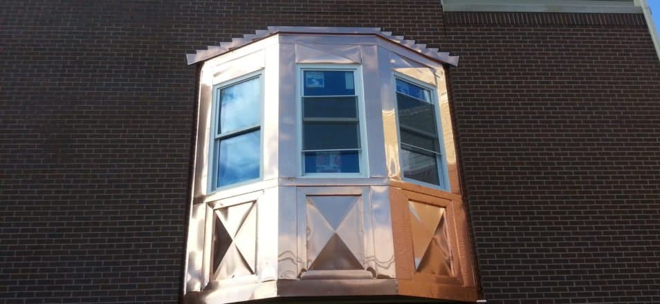 Copper Bay Windows & Copper Soffit Fascia - Chicago, IL