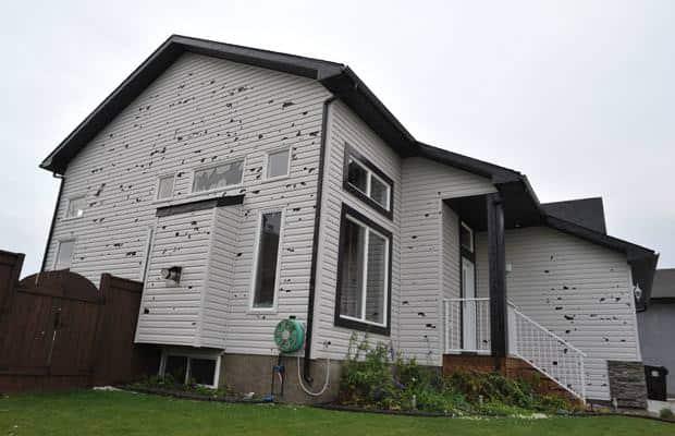 Siding Hail Damage