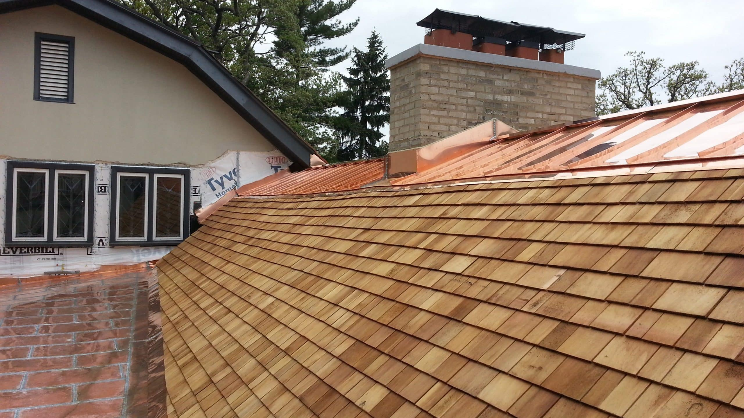 cedar roof. cedar roofing and copper kenilworth il roof o