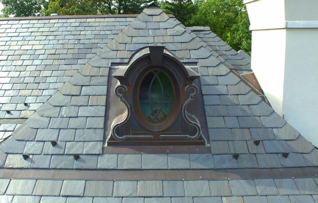 Slate roofs can last up to 150 years