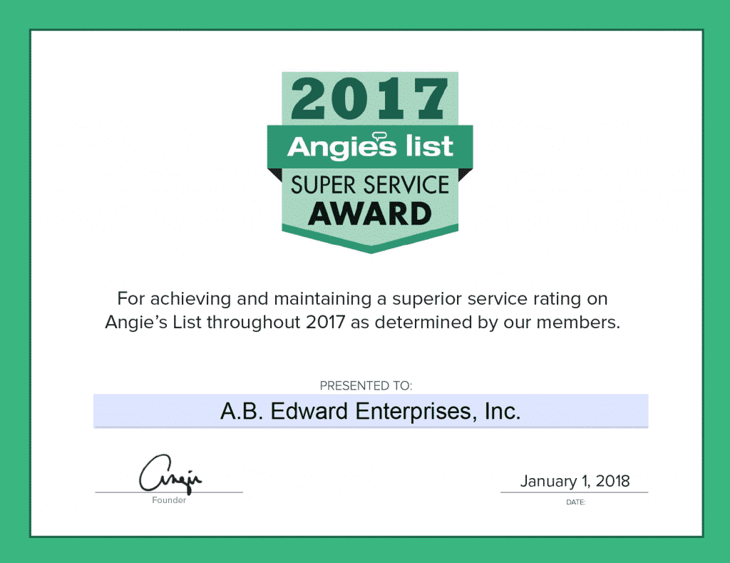 a.b. edward earns esteemed 2017 angies list super service award |