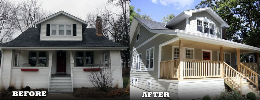 Midwest Historic Bungalow Transformation Using James Hardie Siding