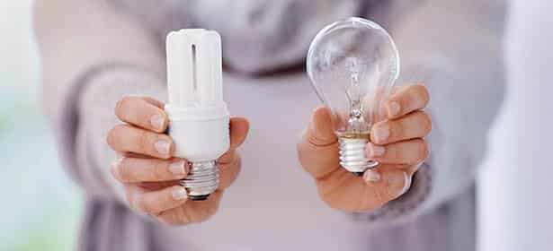 Switch your old bulbs for energy efficient ones