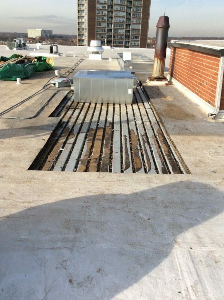 A.B. Edward handles flat roof repair and sealant jobs